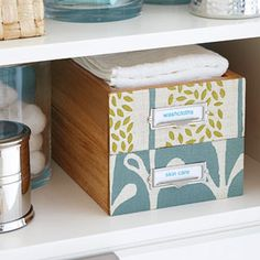 Organize a Linen Cabinet or Closet