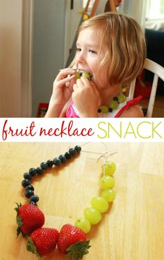 Fruit Necklaces = Fun Snacks for Kids - The Artful Parent