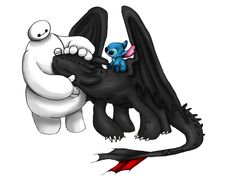 Image from http://img15.deviantart.net/6ec7/i/2015/179/9/3/baymax__toothless_and_stich_by_lisymoreno-d8z3atq.png.