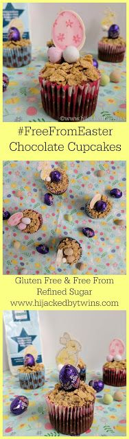 Hijacked By Twins: Gluten Free and Refined Sugar Free Easter Cupcakes - #FreeFromEaster