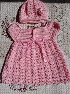 Baby Dress Crochet Baby Dress Flower Baby Girl Clothes Bab - Her Crochet Crochet Baby Dress Pattern, Baby Dress Patterns, Crochet Baby Clothes, Crochet Toddler, Crochet Girls, Crochet Princess, Crochet Fashion, Little Girl Dresses, Toddler Dress