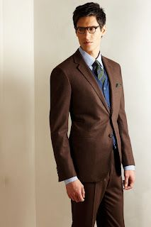 Bernhard Roetzel: Brown suits   Brown, green, blue  Apparently brown suits aren't for business in the UK.