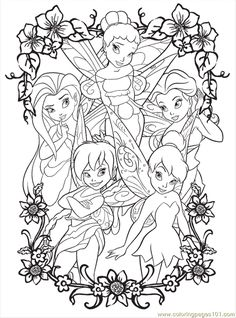 Free Printable Fairy Coloring Pages | free printable coloring page Disney Fairy5 (Cartoons > Disney Fairies)