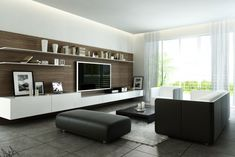 Like: hanging with no legs, very simple and clean. Dislike: shelves over the tv