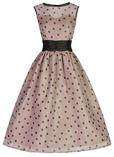Lindy Bop 'Cindy' Vintage 50's Classy Yet Sassy Polka Dot Party Dress Lindy Bop http://www.amazon.com