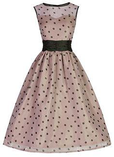 Lindy Bop 'Cindy' Vintage 50's Classy Yet Sassy Polka Dot Party Dress Lindy Bop http://www.amazon.com