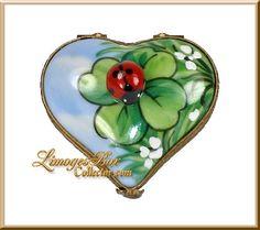 Heart with Ladybug on Four-Leaf Clover (Beauchamp) $189
