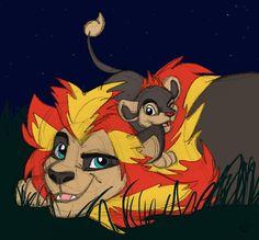 Pyroar lion king