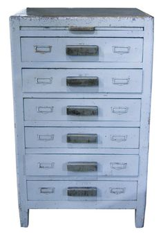 I want a vintage tool chest for my kitchen. This is the best way to store utensils ever!
