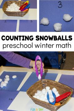 Love this super simple preschool winter math invitation! Its easy to setup and keeps the kids engaged during center time. Let the kids work on their counting and number identification skills during a winter theme. Preschool Centers, Preschool Themes, Preschool Lessons, Fun Math, Toddler Activities, Learning Activities, Preschool Activities, Kids Learning, Kinesthetic Learning
