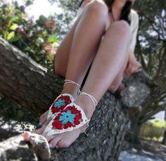 Crochet Barefoot Sandals!