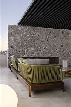 Modular sofa / contemporary / outdoor / fabric - INDIANA - Minotti