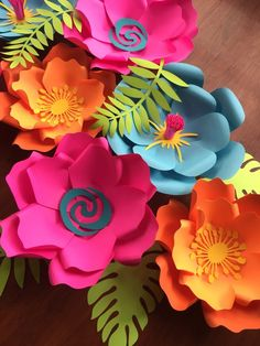 Moana paper flowers / hawaii theme paper flowers/ paper flower