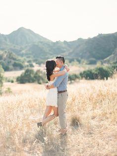 Cali mountain e-sesh: http://www.stylemepretty.com/california-weddings/malibu/2014/10/03/romantic-santa-monica-engagement-session/ | Photography: When He Found Her - http://www.whenhefoundher.com/