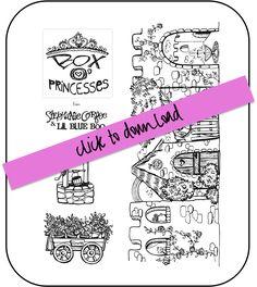 Box o princesses DIY project with free download via lilblueboo.com