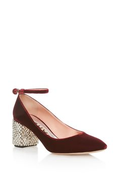 1f822c903ca5e Mary Jane with Embellished Heel by Rochas Burgundy Shoes