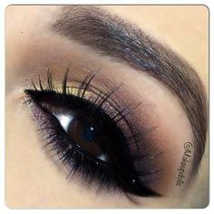 @MakeupDolls wearing Elegant Lashes #038 Black Premium 100% Natural Human Hair False Eyelashes