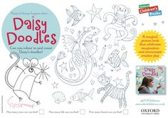Daisy Doodles activity sheet, illustrated by Irene Dickson