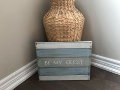 Hey, I found this really awesome Etsy listing at https://www.etsy.com/ca/listing/474466564/be-my-guest-homemade-hand-painted-canvas