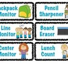 Use these cards for your classroom jobs. Classroom jobs promote leadership and responsibility! I left a page blank so you can have your student name cards in the same format. Classroom Jobs, Classroom Decor, Class Management, Classroom Management, Need A Job, Student Jobs, Name Cards, Custom Cards, Behavior