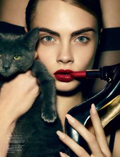 stormtrooperfashion: Cara Delevingne in Cat by Liz Collins...
