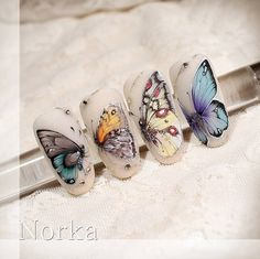 Фотография Butterfly Nail Designs, Butterfly Nail Art, Nail Designs Spring, Nail Art Designs, Kiss Nails, Fun Nails, Swag Nails, Spring Nails, Summer Nails