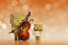 Mozart aria by Brigitte-Fredensborg on DeviantArt Danbo, Kawaii Plush, Cute Box, Box Art, Art World, Have Fun, Music Instruments, Deviantart, Shit Happens