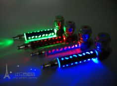New 1pcs MINI Pipe Metal Smoking Pipe Weed Pipe With LED Light ...