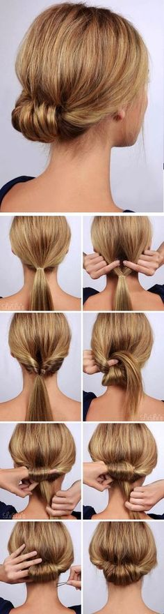 """Best Hairstyles for Summer - Low Rolled Updo Hair Tutorial - Easy and Cute Hair ., Easy hairstyles, """" Best Hairstyles for Summer - Low Rolled Updo Hair Tutorial - Easy and Cute Hair . - Source by Pretty Hairstyles, Easy Hairstyles, Hairstyle Ideas, Wedding Hairstyles, Hairstyle Tutorials, Casual Hairstyles, Hairstyles 2018, Latest Hairstyles, Hairstyle Images"""