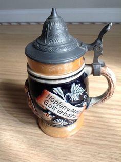 Vintage-Lidded-German-Beer-Stein-Hopfen-Und-Malz.jpg (746×1000)