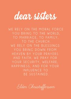 We are a moral force for good!  Mormon Women Stand #MWStand