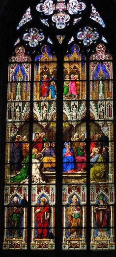 Dom Cathedreal Stained GlassThe Whitsun Window 2