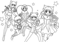 Ichigo from Mew-mew anime coloring pages for kids, printable free ...