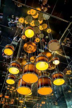 Drums lamps.
