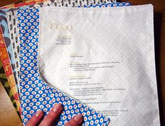 Sewn Fabric Resume + Tutorial