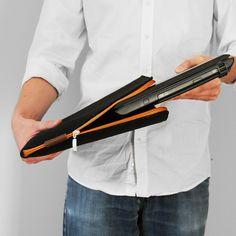 POKROWIEC NA LAPTOPA 03 pomaranczowy zamek #laptopsleeve #laptop #cover #felt #black #orange #sleeve