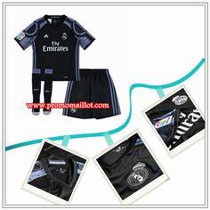 Le Nouveau Maillot Real Madrid Enfant Third Noir Adidas 2016 17  Personnalisés d39522e88804c