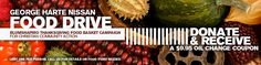 George Harte Nissan Thanksgiving Food Drive