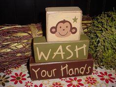 cute for her monkey bathroom things-for-little-miss Girl Bathrooms, Bathroom Kids, Kids Bath, Bathroom Things, Monkey Bathroom, 2x4 Crafts, Primitive Wood Signs, Boy Bath, Monkey Girl