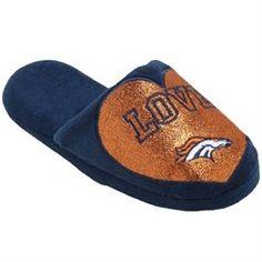 Women's Denver Broncos Love Glitter Slide Slippers