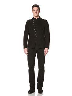 75% OFF John Varvatos Collection Men's Modern Military Jacket (Black)