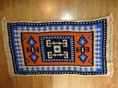 Kazak Style Rug Crochet Pattern by WovenStitchCrochet on Etsy