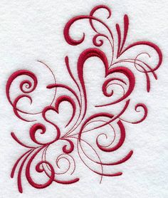 Inky Hearts Design | Machine Embroidery Designs | Lovely Patterns You Can Do Yourself