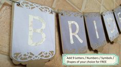 Bridal Shower Banner / Wedding Decor Rustic / by ClairPaperCrafts