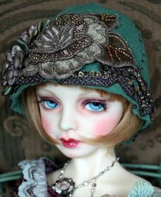 Roaring 20s with Fanciful Delight's BJD Hat Creations
