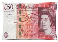 English money Art Pillowcase Standard Size 50x75cm Design Custom Pillow Cover