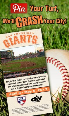 Crash San Francisco! Repin this #SanFranciscoGiants ticket. The city with the most repins gets crashed!