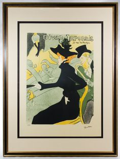 "Lot 293: Henri de Toulouse-Lautrec (French, 1864-1901) ""Divan Japonais"" Lithograph; 1986, numbered 179/275 lower left, depicting a well dressed male and female; attached COA en verso"