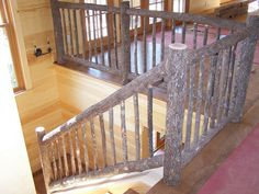 java gel stain on banister Banisters, Railings, Java Gel Stains, Rustic Stairs, Stair Railing Design, Cozy Place, Stairways, Rustic Decor, My House