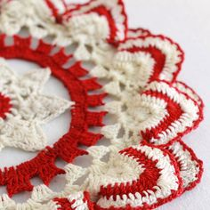 Vintage Ripple Edged Doily Crochet Pattern PDF